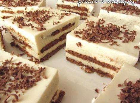 Торт без выпечки из печенья с творогом и желатином рецепт с фото