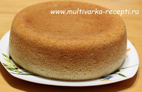 Торт бисквитный в мультиварке рецепт с фото