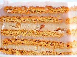 Торт из печенья без выпечки со сгущенкой рецепт
