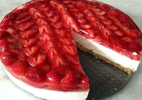 Торт из печенья и желе без выпечки рецепт с фото