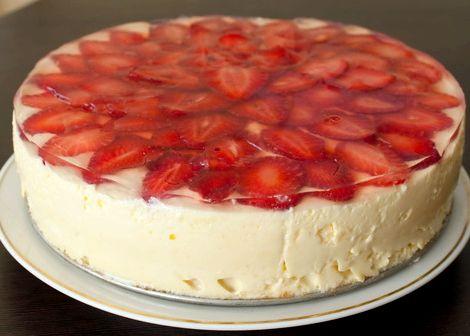 Торт клубничный с маскарпоне рецепт с фото