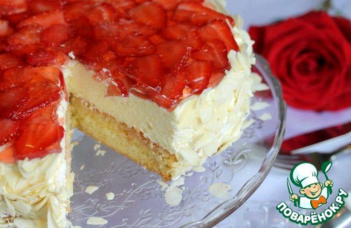 Торт с клубникой и маскарпоне рецепт
