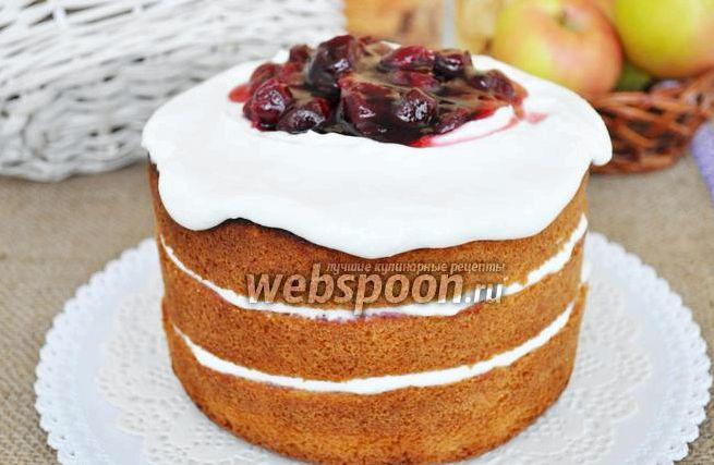 Торт с творожным кремом рецепт с фото пошагово в домашних условиях