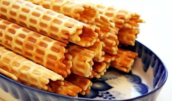 Трубочки вафельные рецепт с фото пошагово