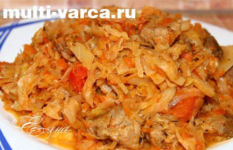 Тушеная капуста с картошкой и фаршем рецепт с фото