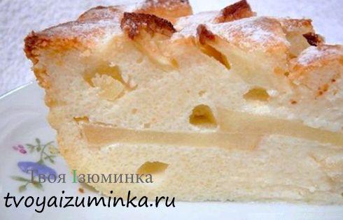 Творожная запеканка рецепт с яблоками