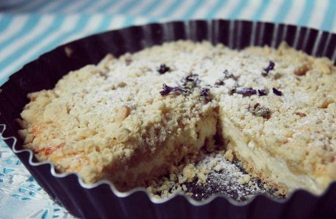 Творожный пирог рассыпчатый рецепт с фото