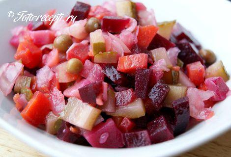 Винегрет с капустой рецепт классический пошаговый рецепт с фото