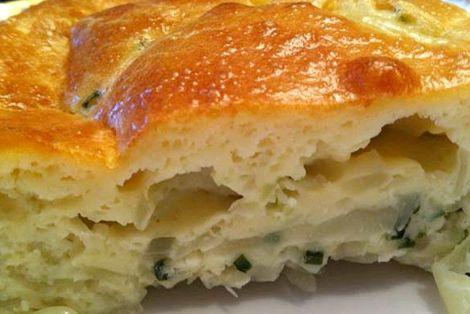 Заливной пирог на кефире с картошкой рецепт с фото