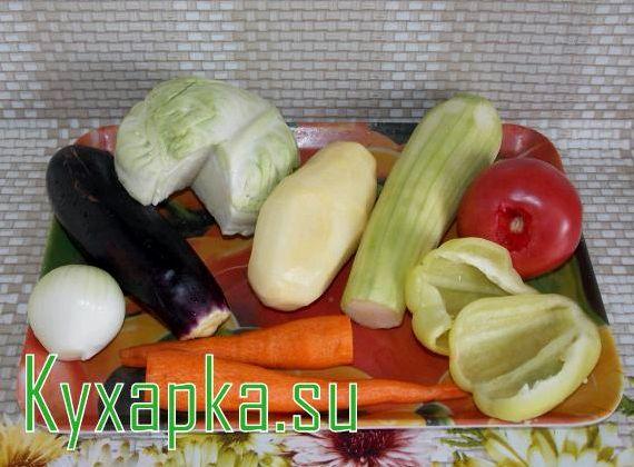 Запеченное овощное рагу в духовке рецепт с фото