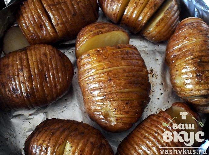 Запеченный в мундире картофель в духовке рецепт с фото