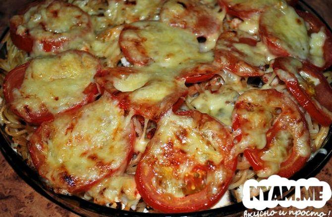 Запеканка из макарон с колбасой в духовке рецепт с фото