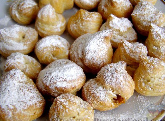 Заварные пирожные рецепт с фото пошагово с заварным кремом