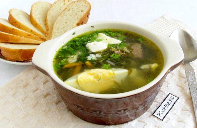 Зеленый борщ с щавелем и яйцом в мультиварке рецепт с фото