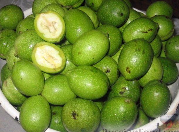 Зеленый грецкий орех с сахаром рецепт