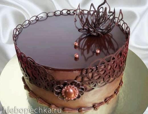 Зеркальная глазурь для торта шоколадная рецепт с фото