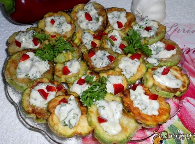 Жареные кабачки с майонезом и чесноком рецепт с фото пошагово