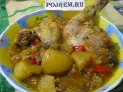 Жаркое из курицы с картошкой в кастрюле рецепт с фото